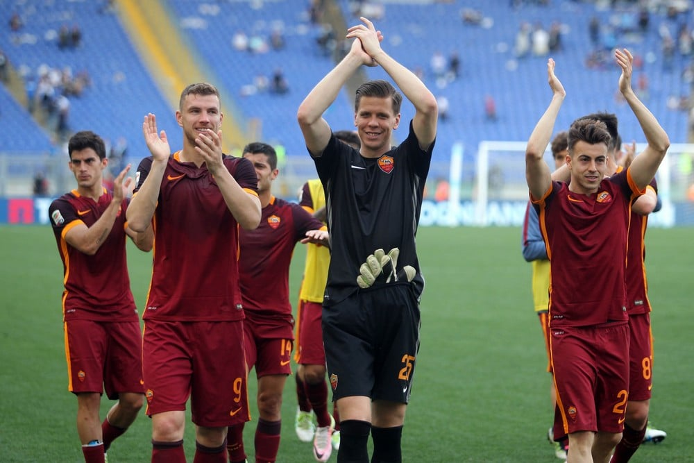 Will the AS Roma players rejoice like this after tomorrow's match against Liverpool?